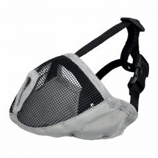 Намордник для брахицефалов Trixie полиэстеровый S-M 24 см (серый)