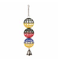 Три шарика с колокольчиком пластм. 16см