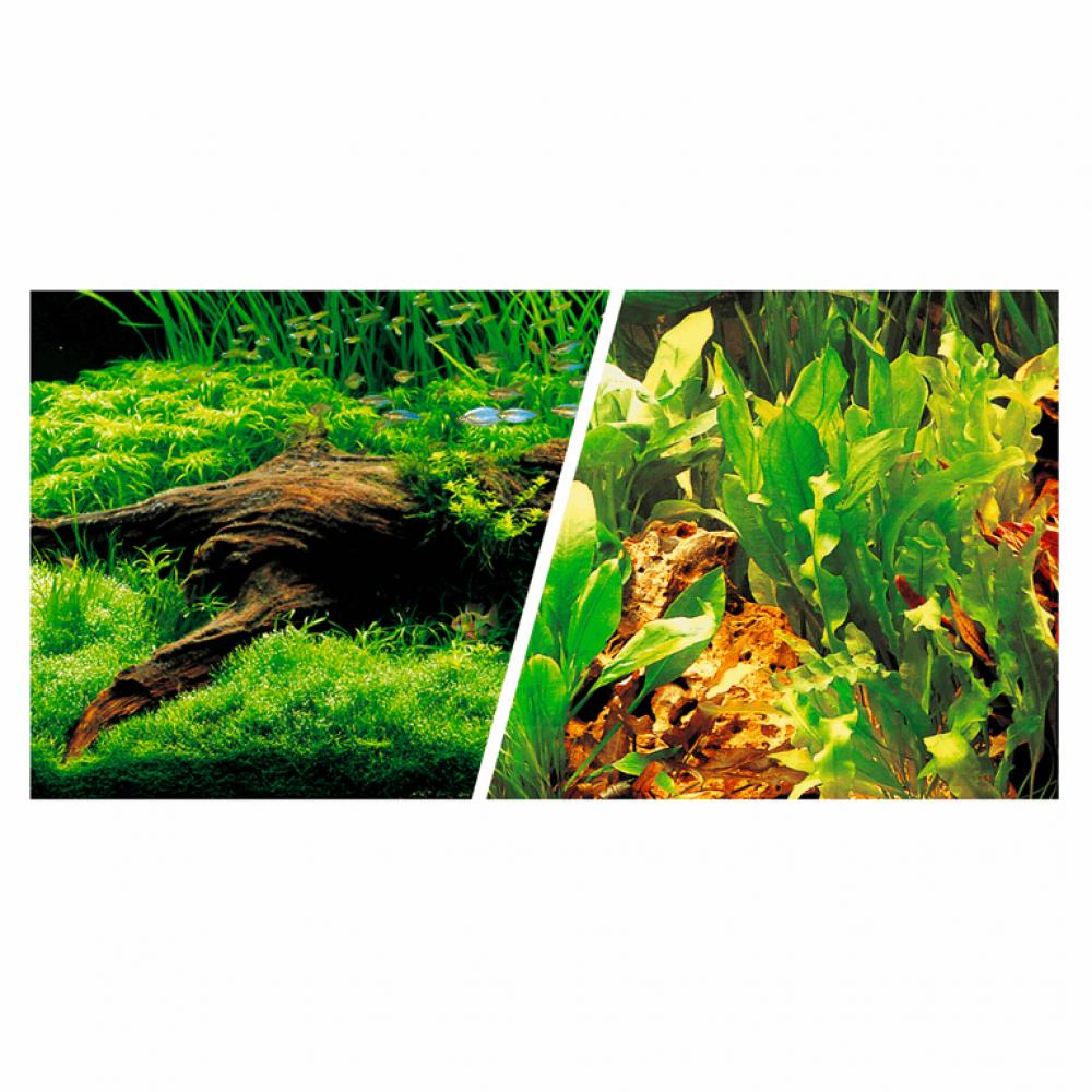 Фон 45см*7,5м дв. коряга с растениями