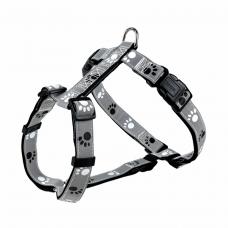 Шлея Silver Reflect с лапами светоотраж. XS-S 30-40см/15мм
